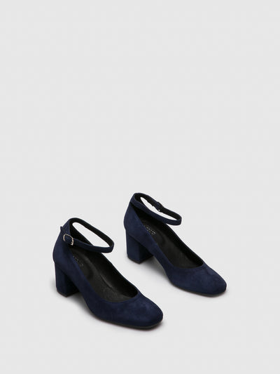 Foreva Navy Ankle Strap Shoes