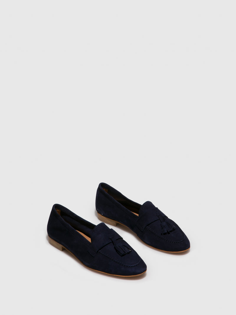Blue Flat Shoes