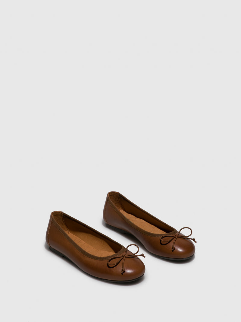 Foreva Brown Bow Ballerinas