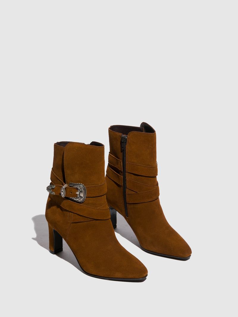 Camel Buckle Boots