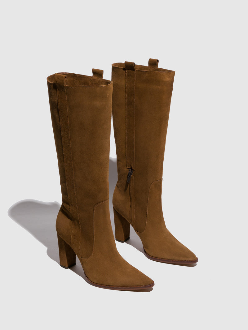 Foreva Brown Pointed Toe Boots