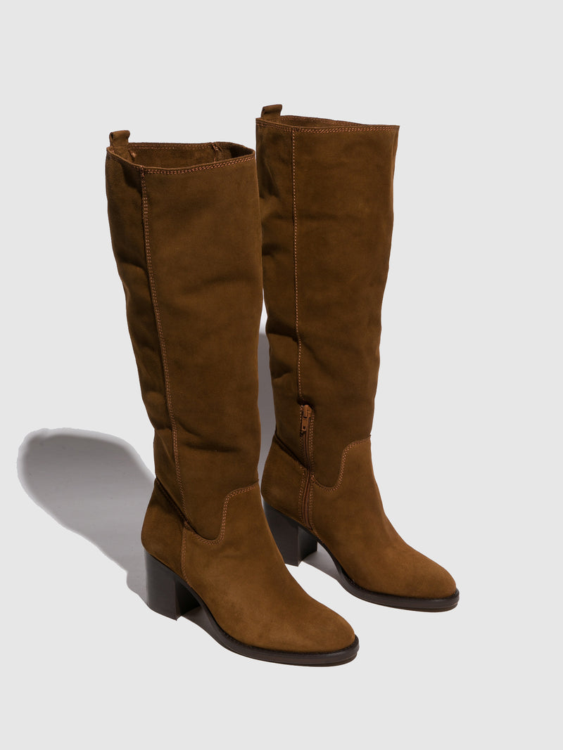 Foreva Brown Round Toe Boots