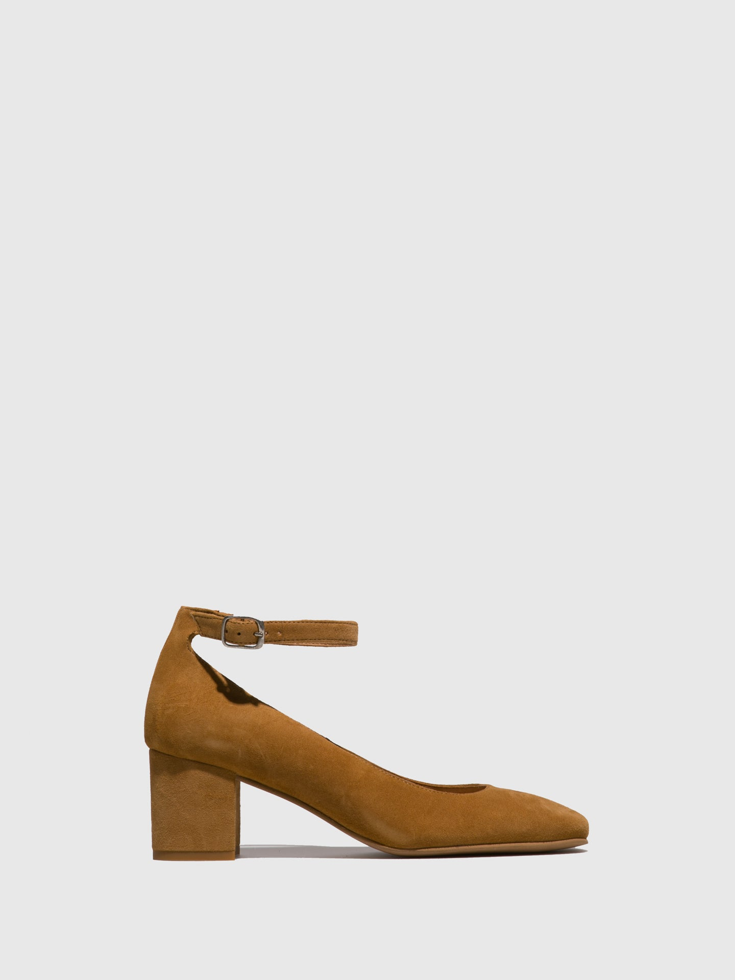 Foreva Brown Ankle Strap Shoes