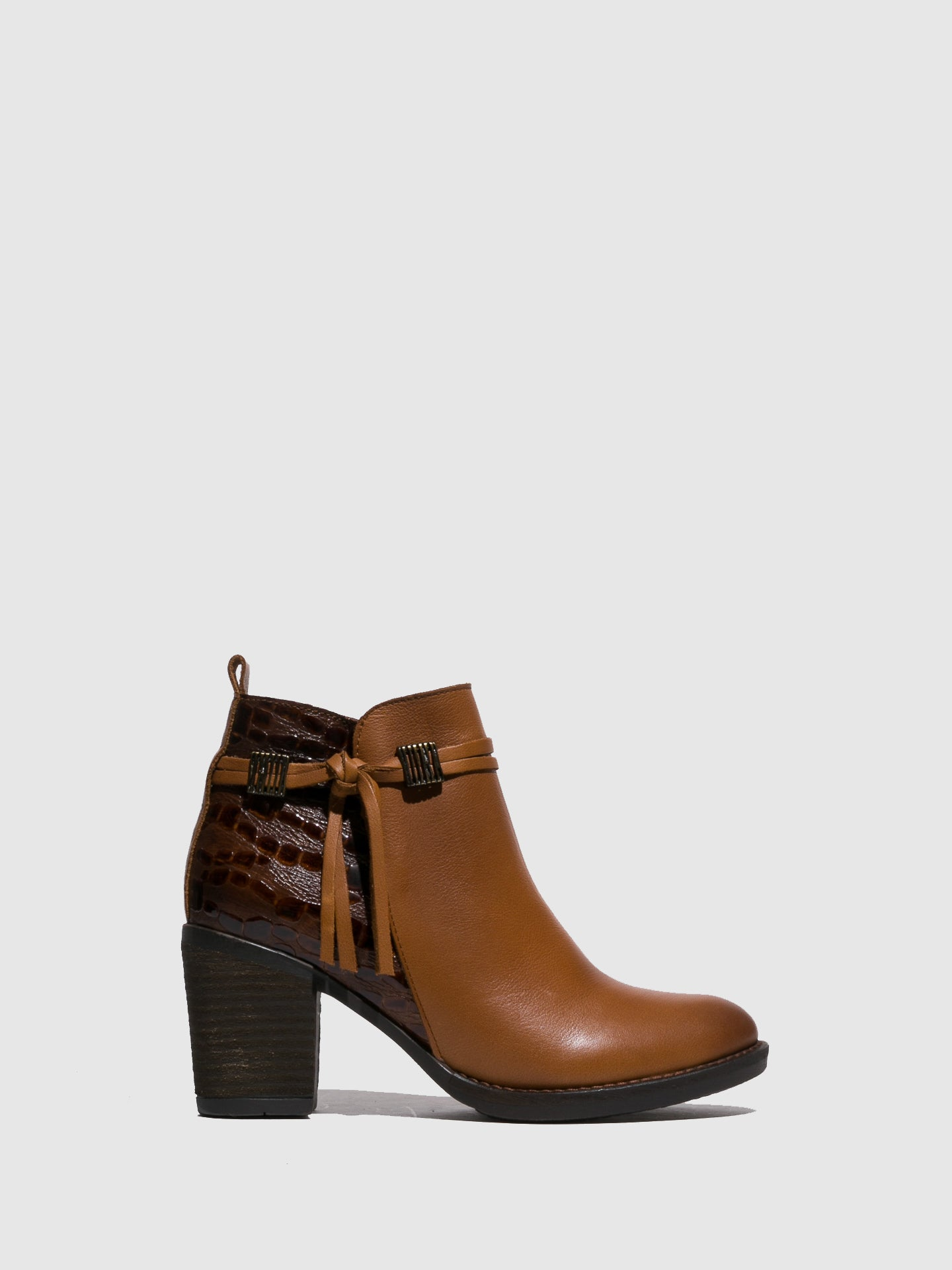 Foreva Camel Round Toe Ankle Boots