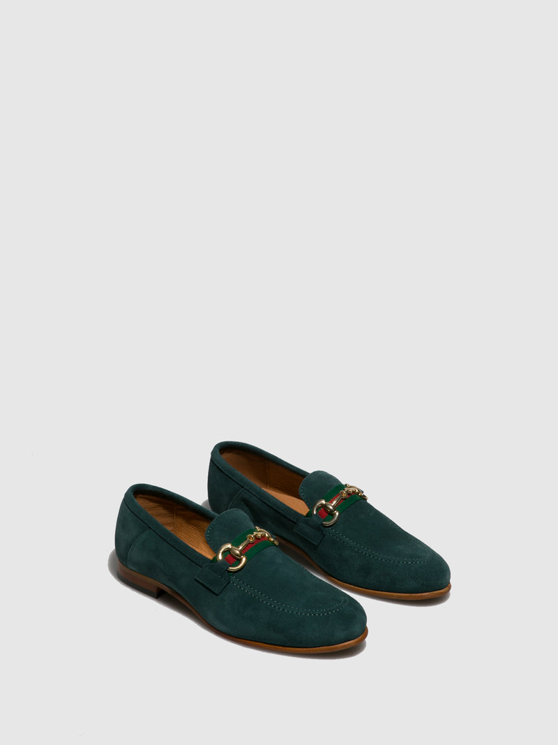 Foreva Green Suede Mocassins Shoes