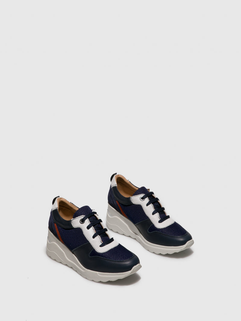 Foreva Blue White Lace-up Shoes