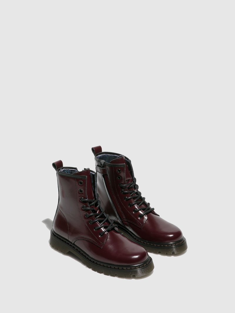 Foreva Crimson Lace-up Boots