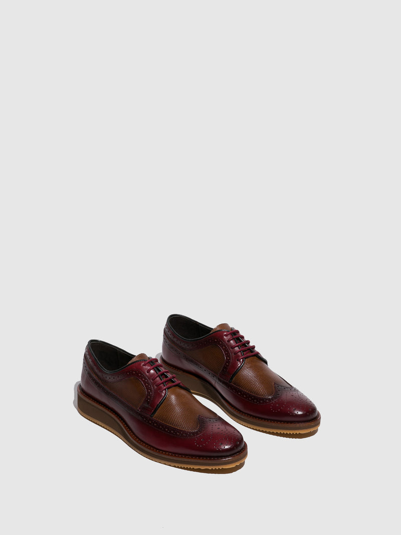 Foreva Crimson Lace-up Shoes