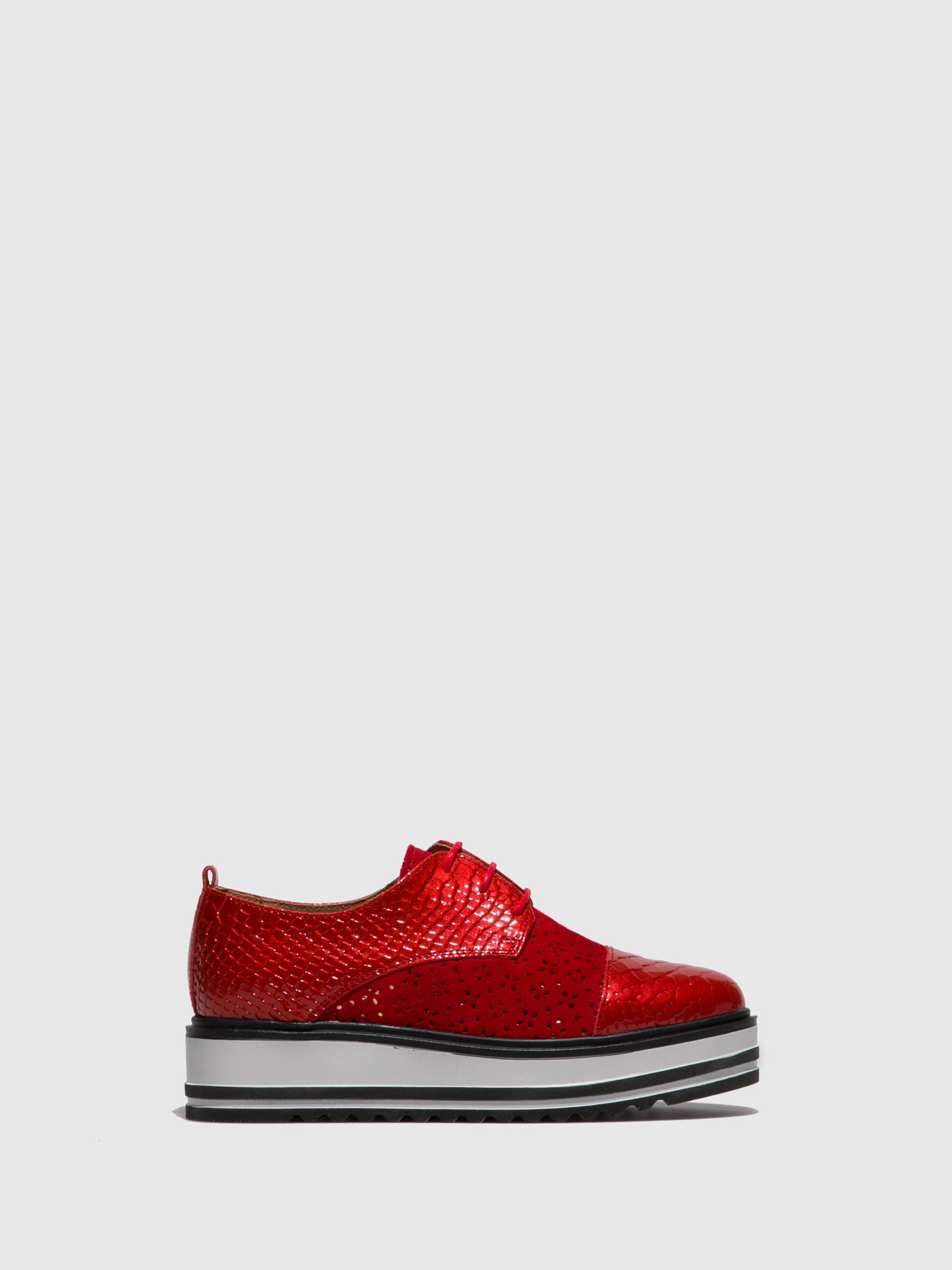 Foreva Red Lace-up Shoes