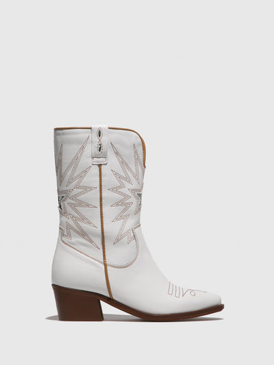 Foreva White Cowboy Boots