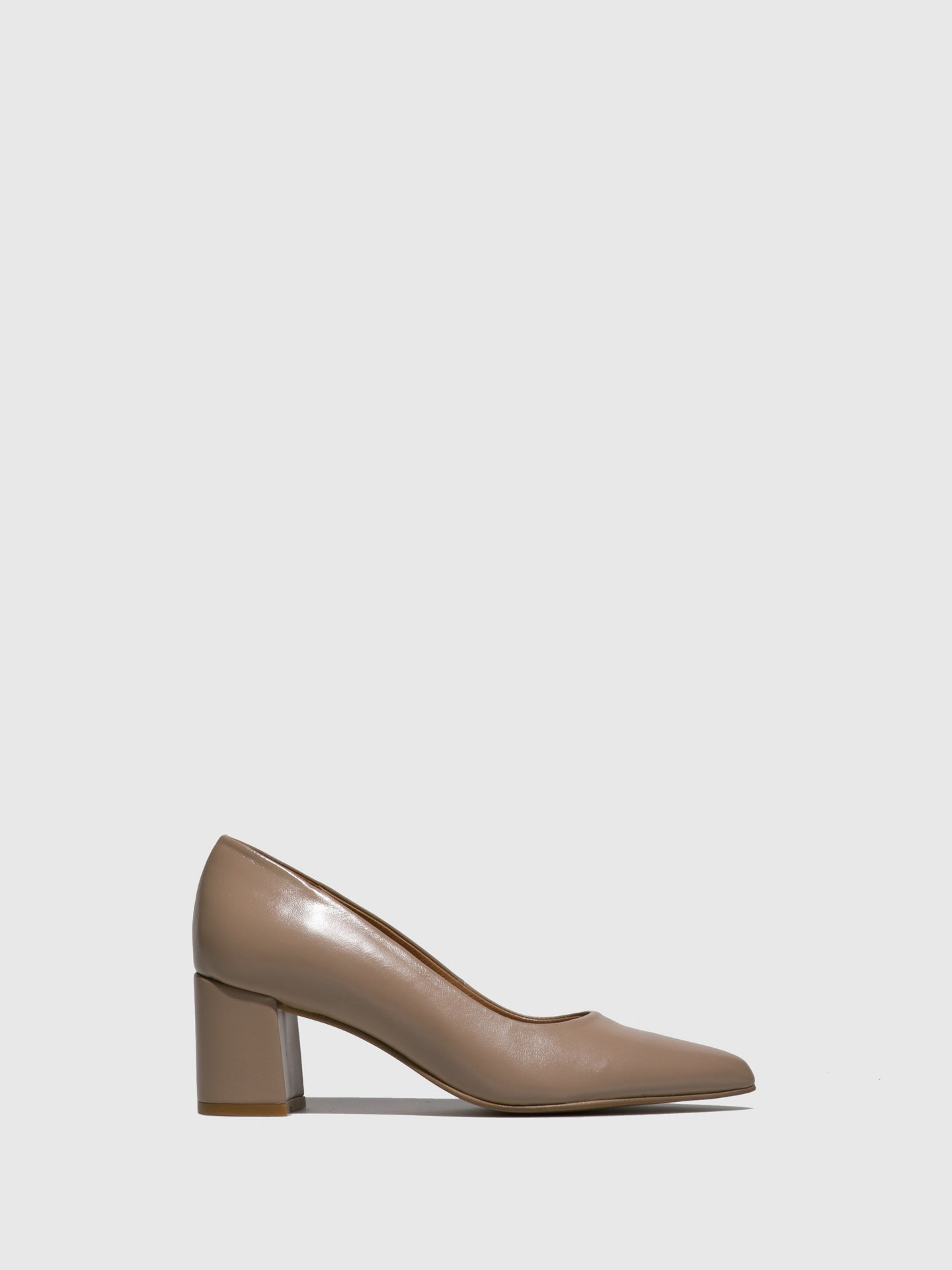 Foreva Beige Block Heel Shoes