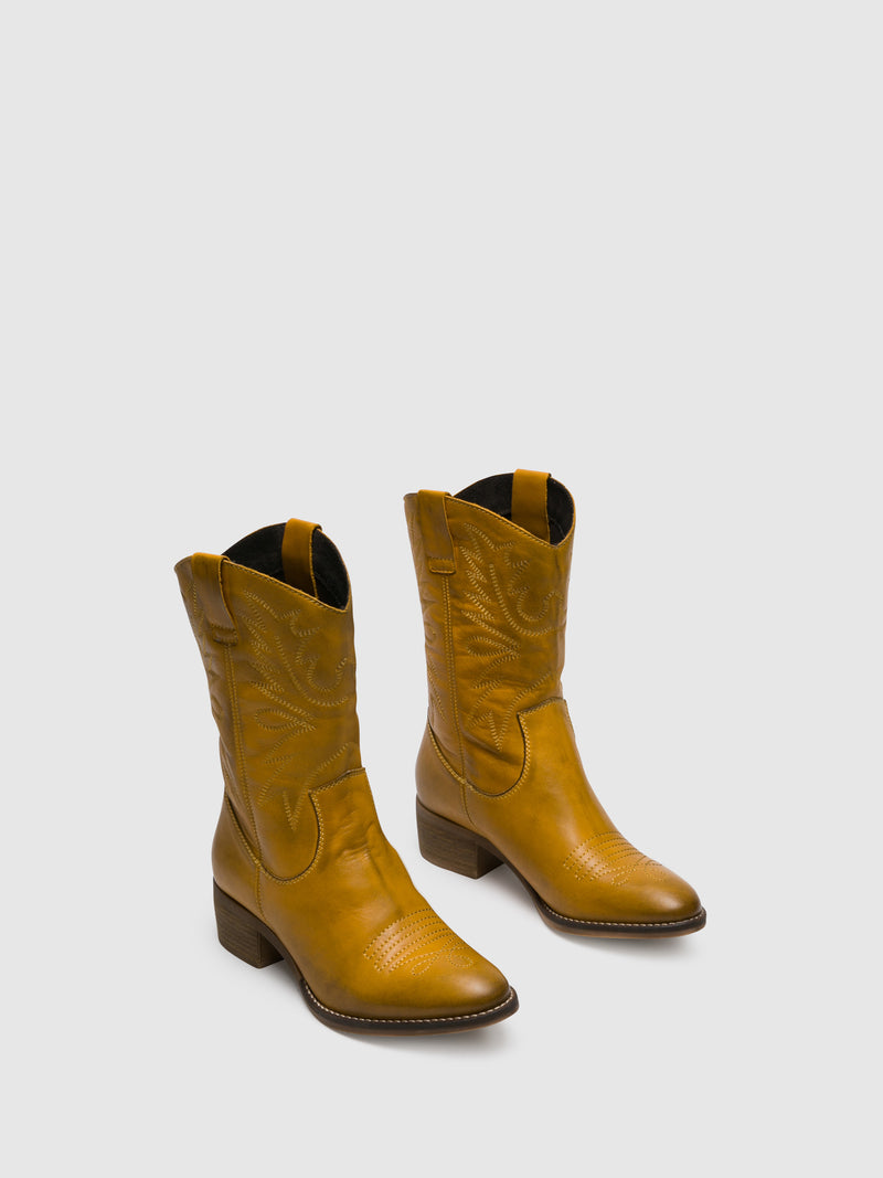 Yellow Cowboy Boots