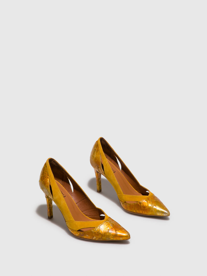 Yellow Stiletto Shoes