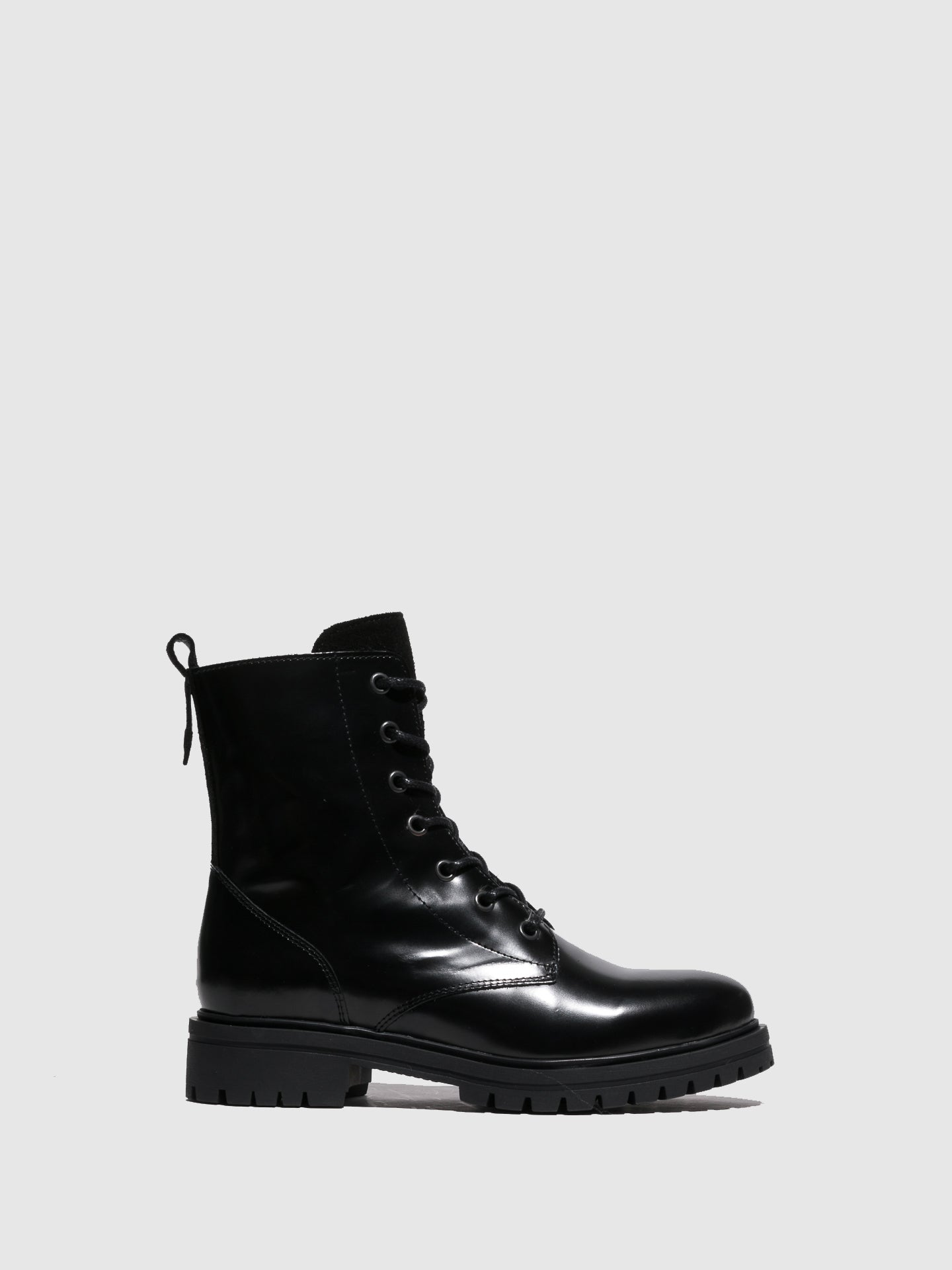 Fungi Black Lace-up Boots