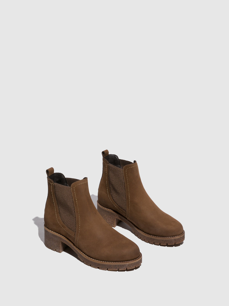 Fungi Tan Chelsea Ankle Boots