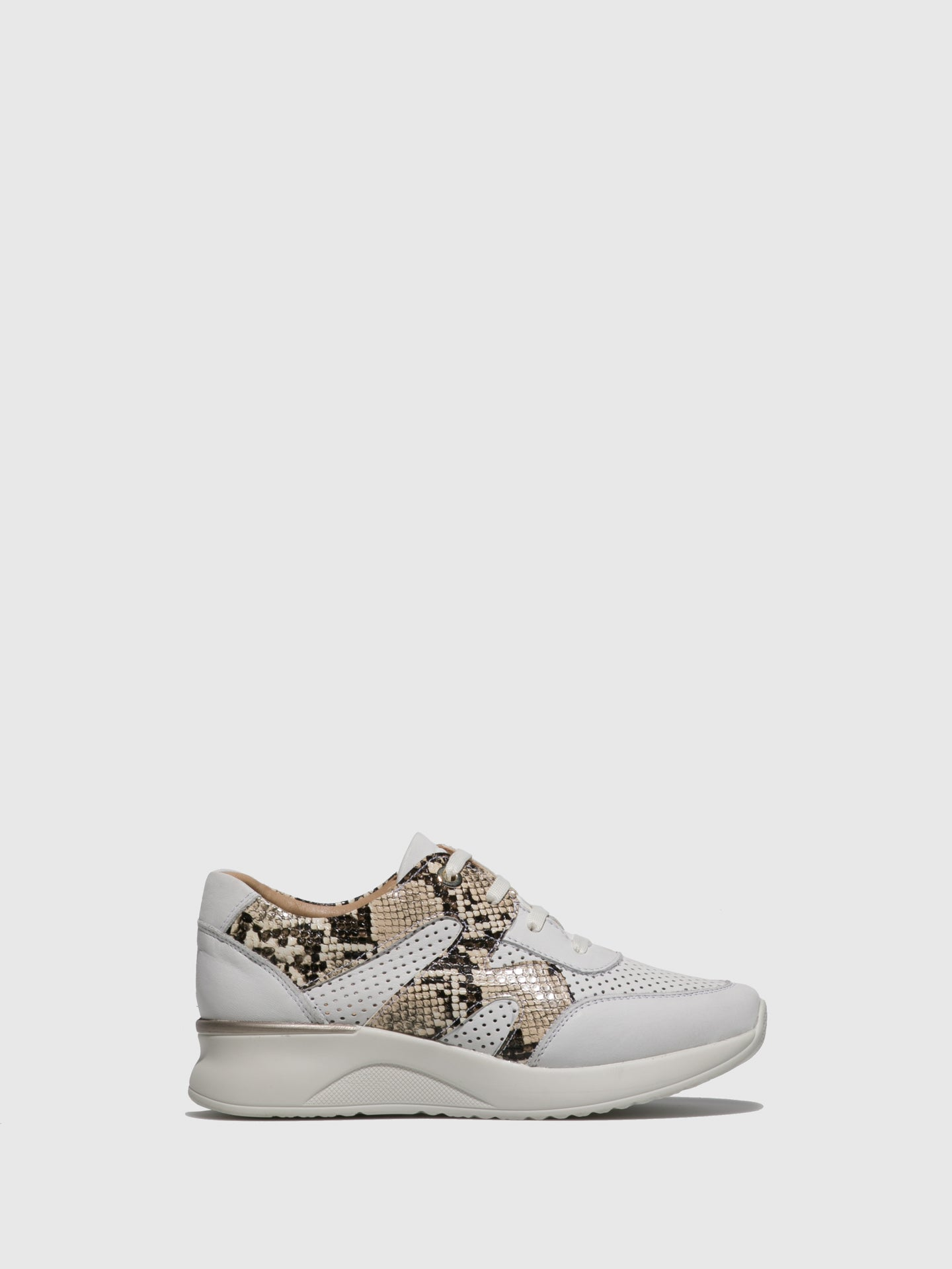 Fungi Peru White Lace-up Shoes