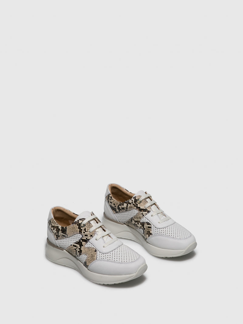 Peru White Lace-up Shoes