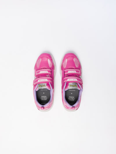 Geox Pink Lace-up Trainers
