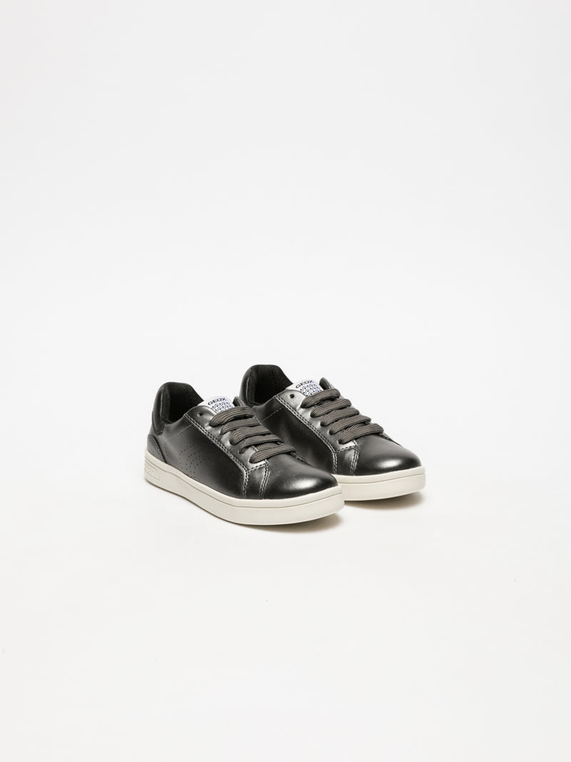 Silver Lace-up Trainers