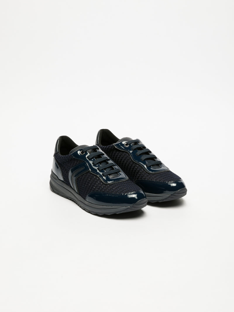 Geox DarkBlue Lace-up Trainers