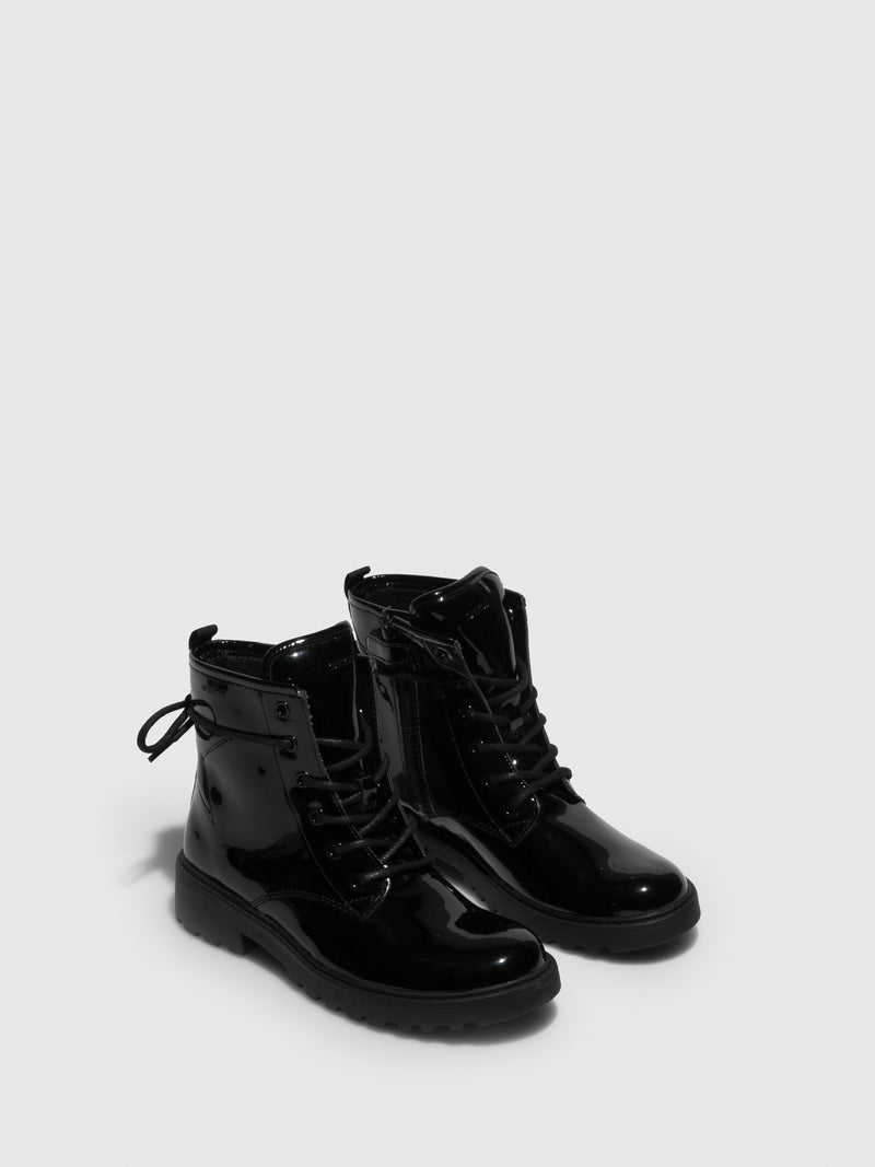 Geox Black Zip Up Boots