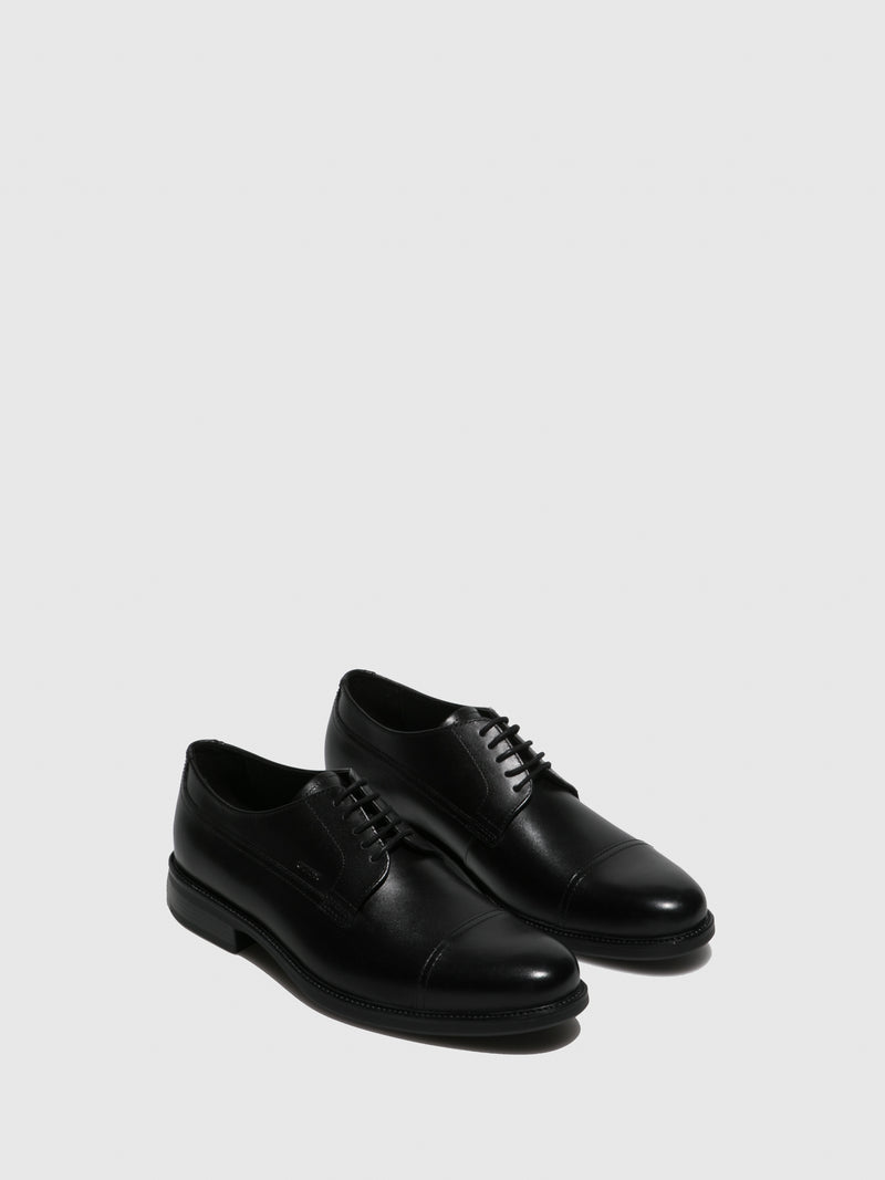 Geox Black Derby Shoes