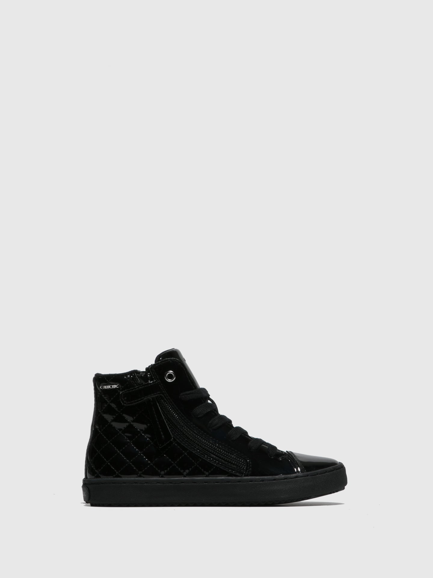 Geox Black Zip Up Trainers