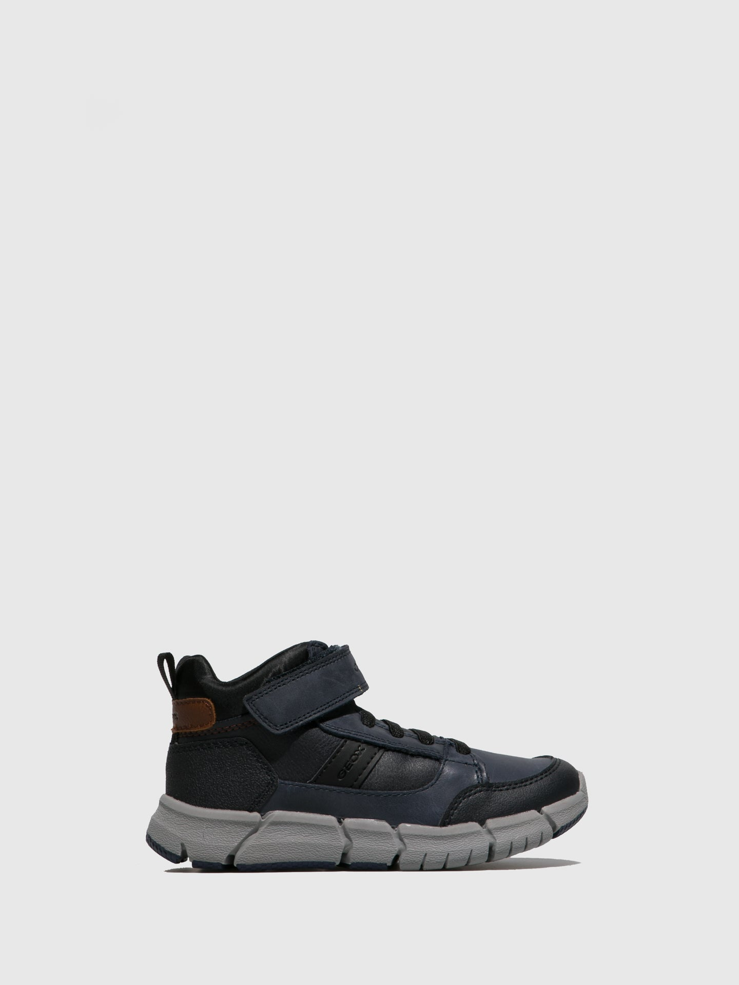 Geox Navy Velcro Ankle Boots