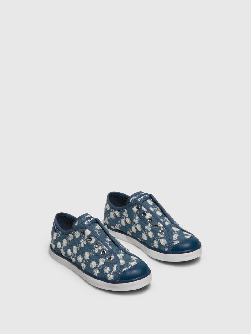 Geox Blue Lace-up Shoes
