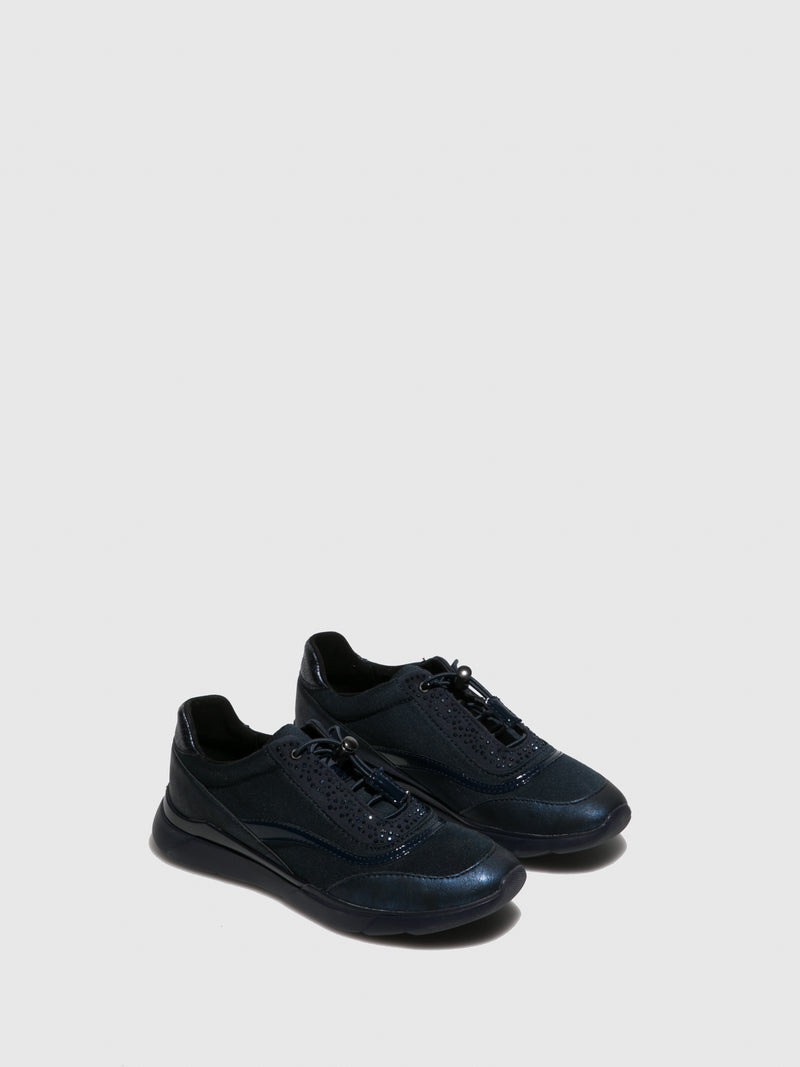 Navy Elasticated Trainers