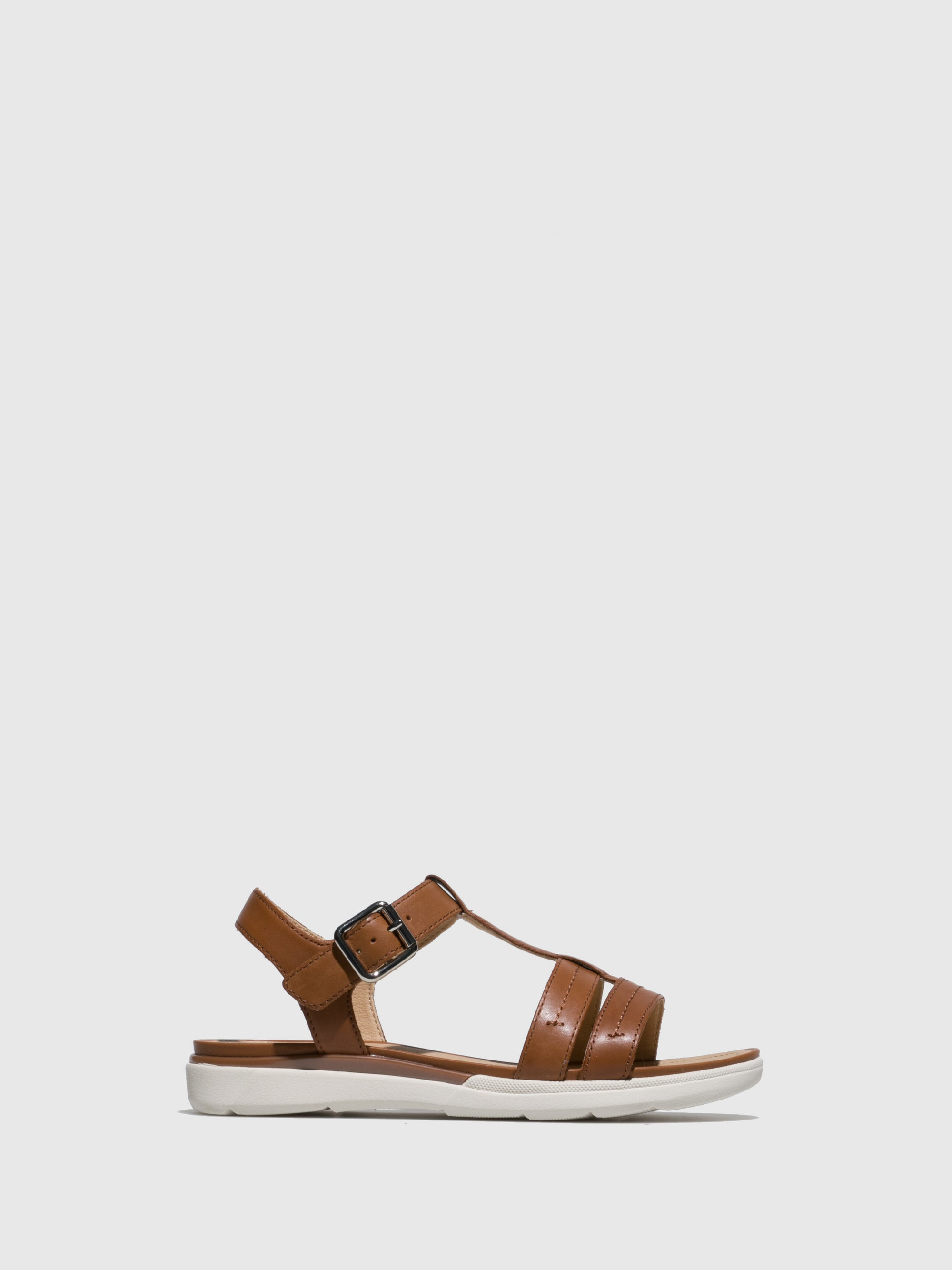 Geox Brown Ankle Strap Sandals