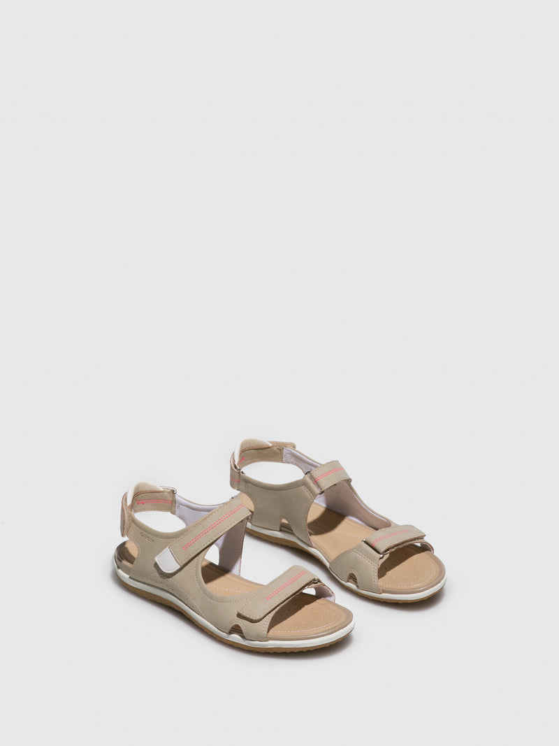 Geox Wheat Crossover Sandals