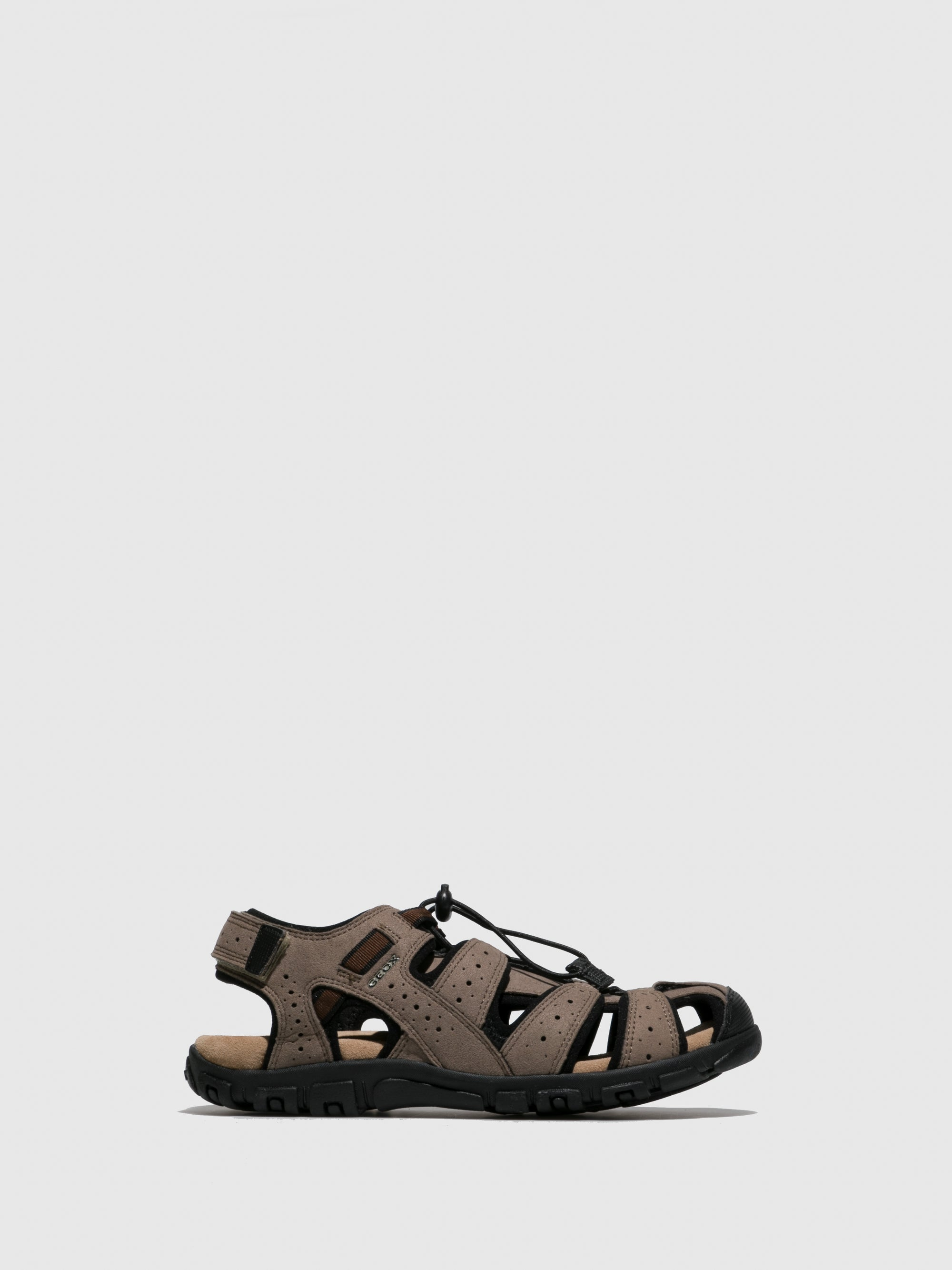 Geox Brown Crossover Sandals