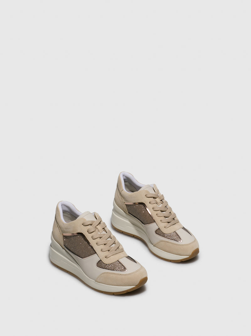 Geox Wheat Wedge Trainers