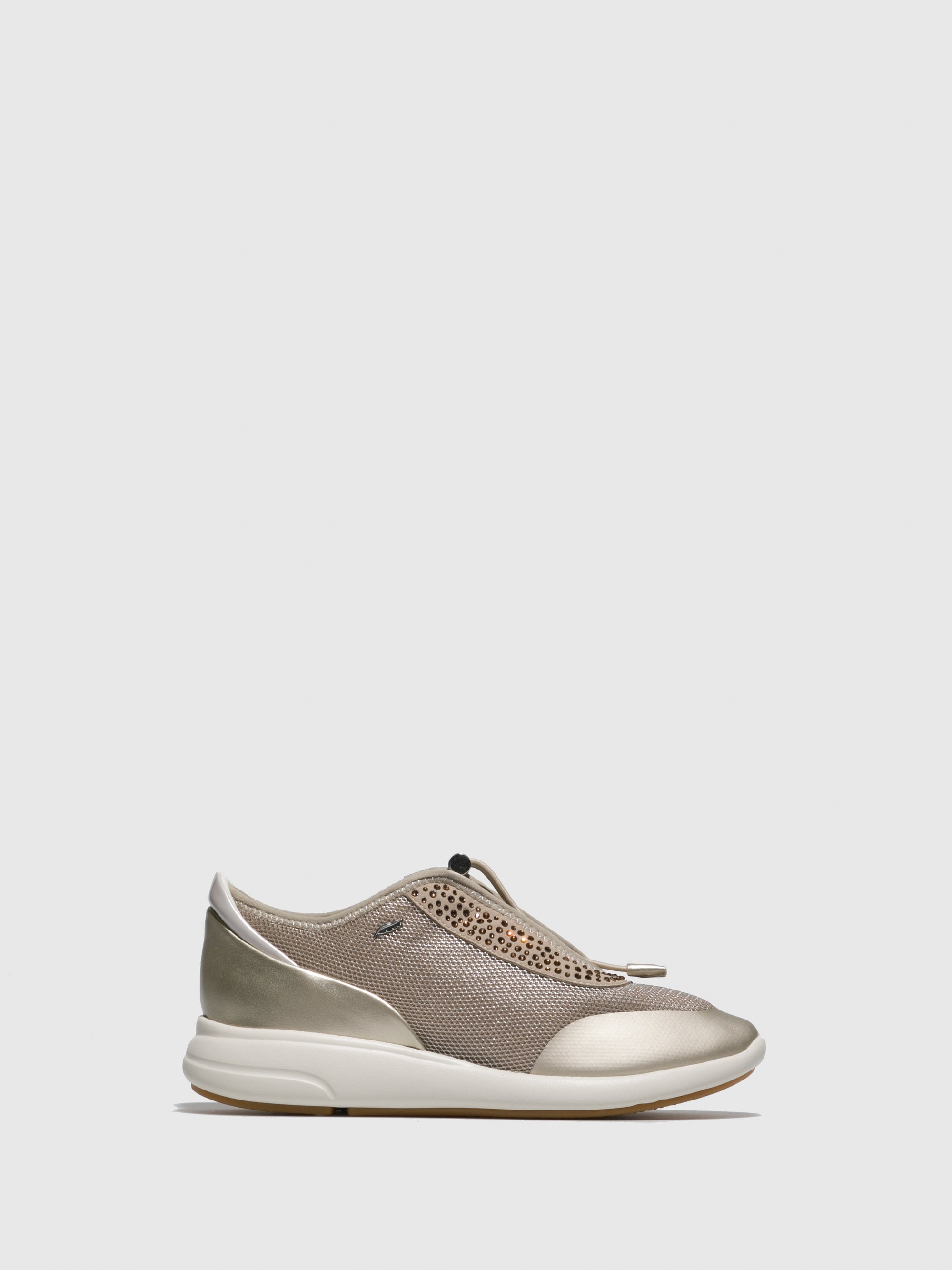 Geox Brown Lace-up Trainers