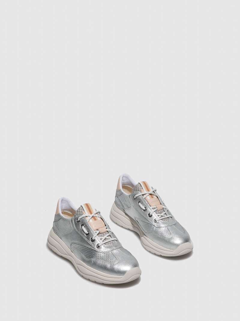 Geox Silver Lace-up Shoes