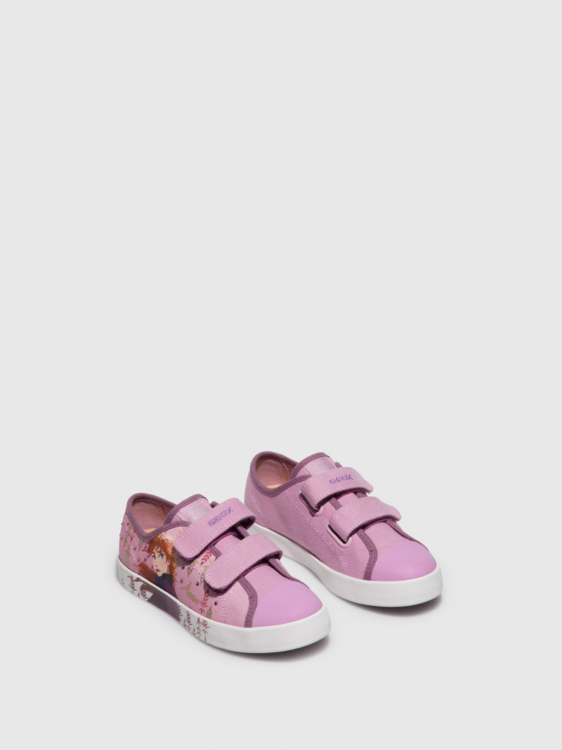 Geox HotPink Velcro Trainers