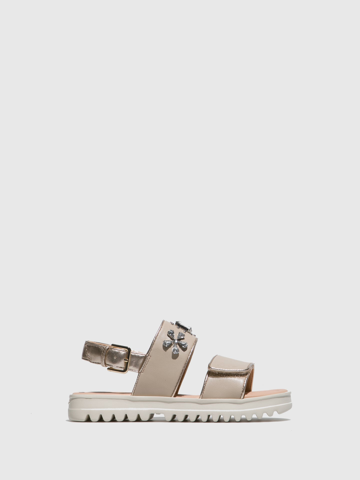 Geox Beige Ankle Strap Sandals