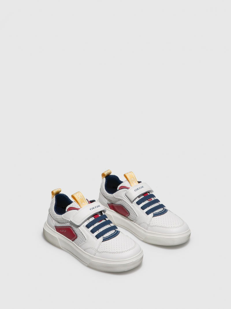 Geox GhostWhite Velcro Trainers