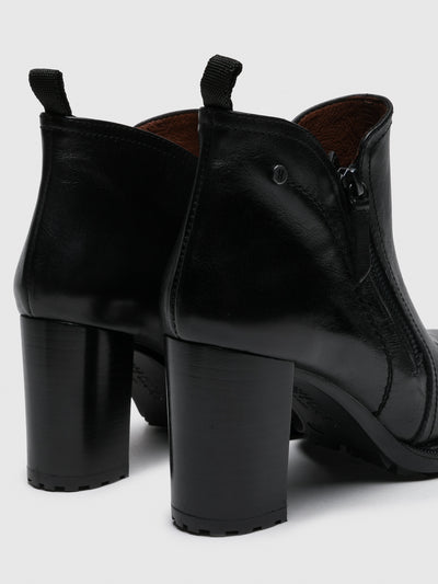 Hispanitas Black Zip up Ankle Boots