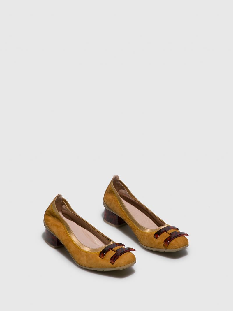 Camel Chunky Heel Shoes