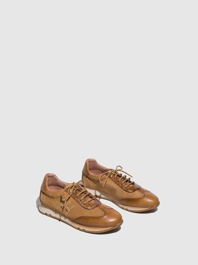 Hispanitas Camel Lace-up Trainers