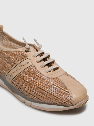 Hispanitas Beige Lace-up Trainers