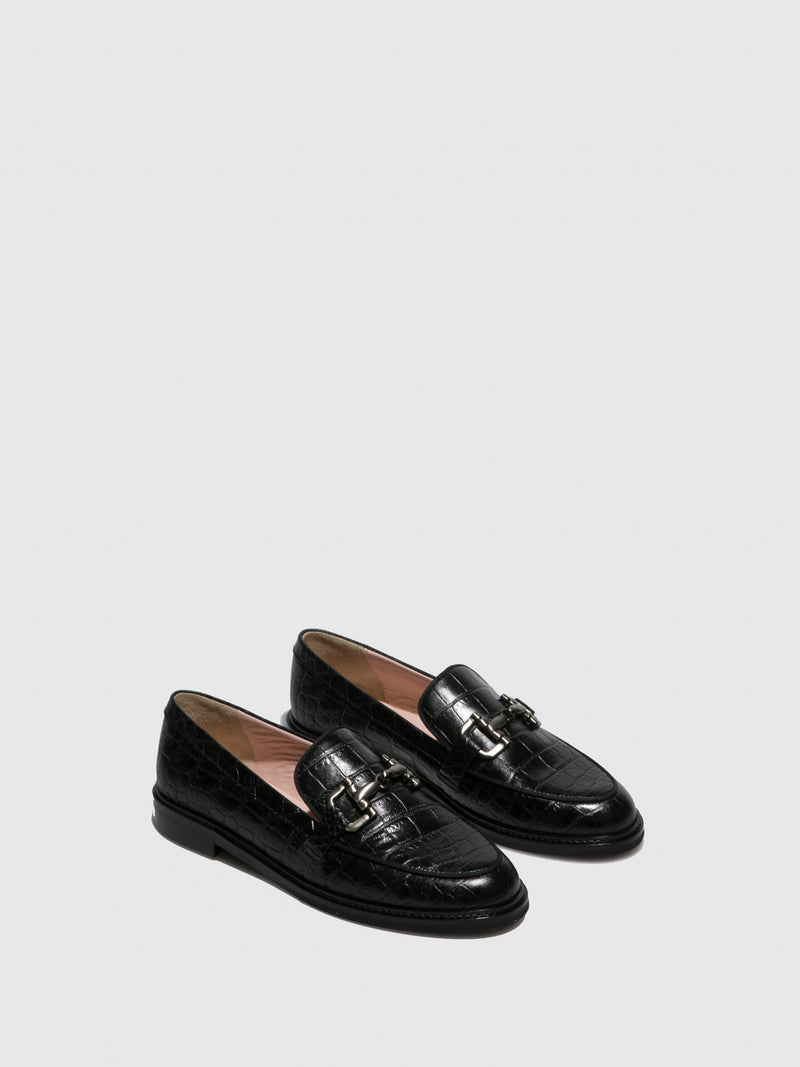 JJ Heitor Black Mocassins Shoes