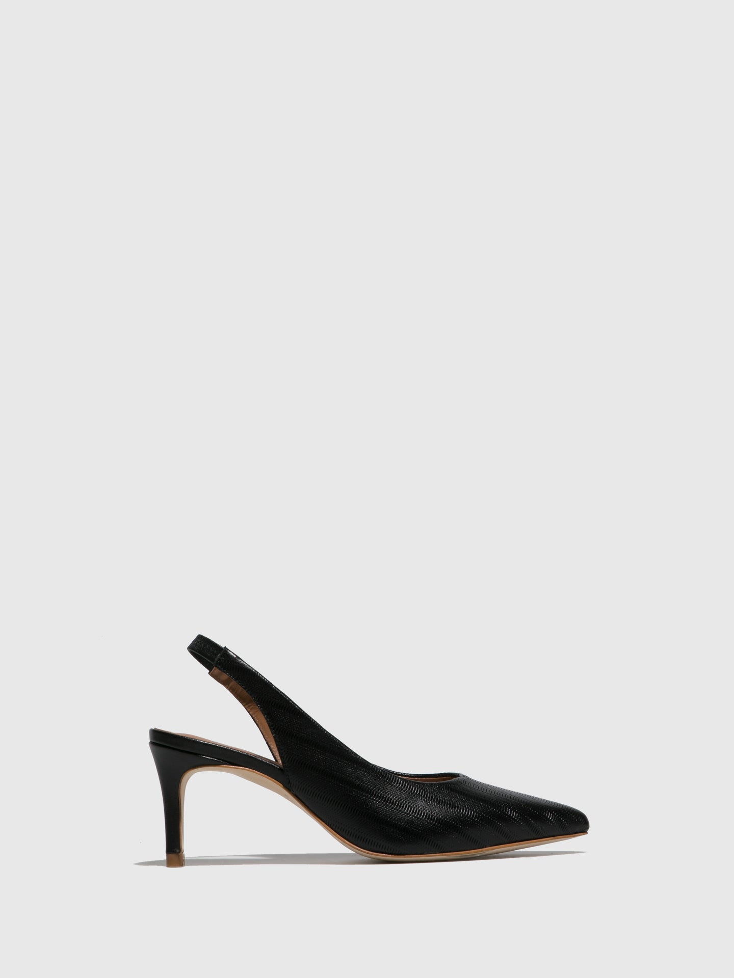 JJ Heitor Black Leather Stiletto Mules