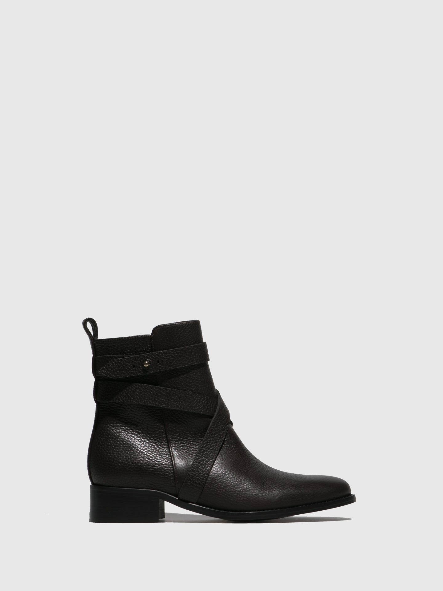 JJ Heitor Brown Zip Up Ankle Boots