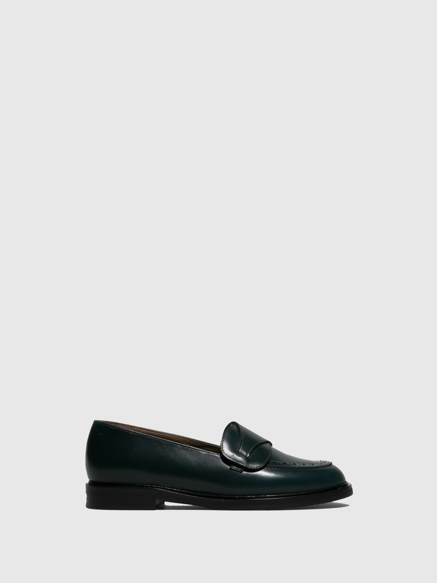 JJ Heitor DarkGreen Leather Loafers Shoes