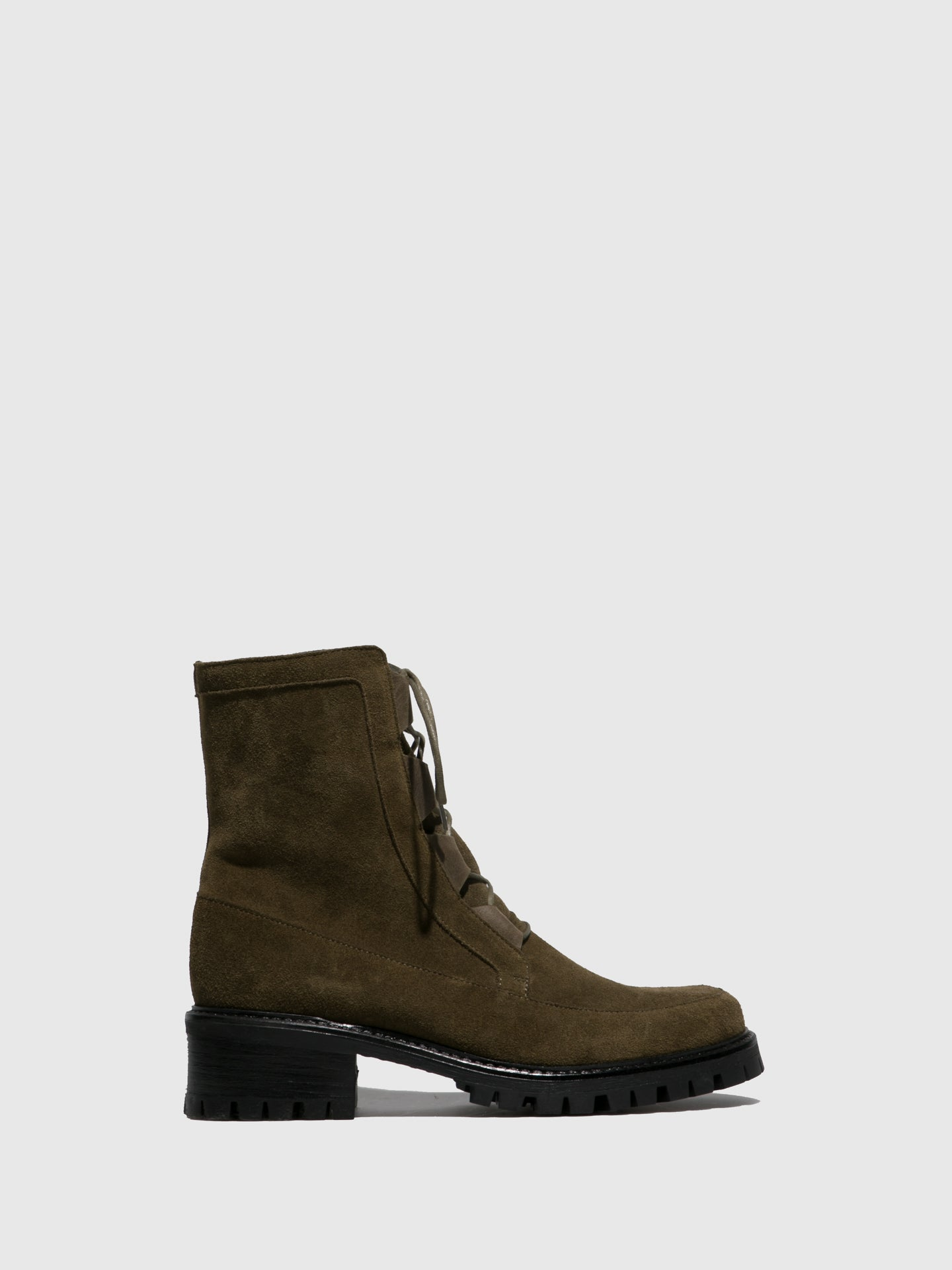 JJ Heitor Khaki Lace-up Ankle Boots