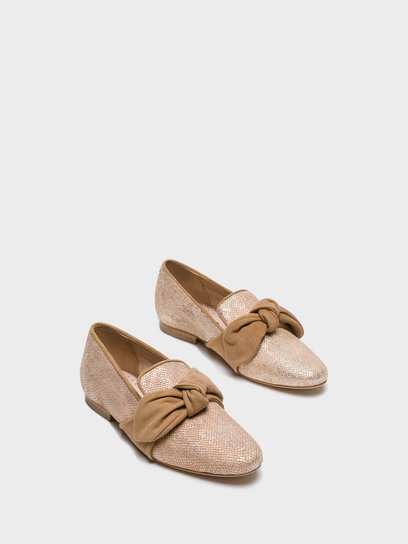 JJ Heitor Gold Loafers Shoes