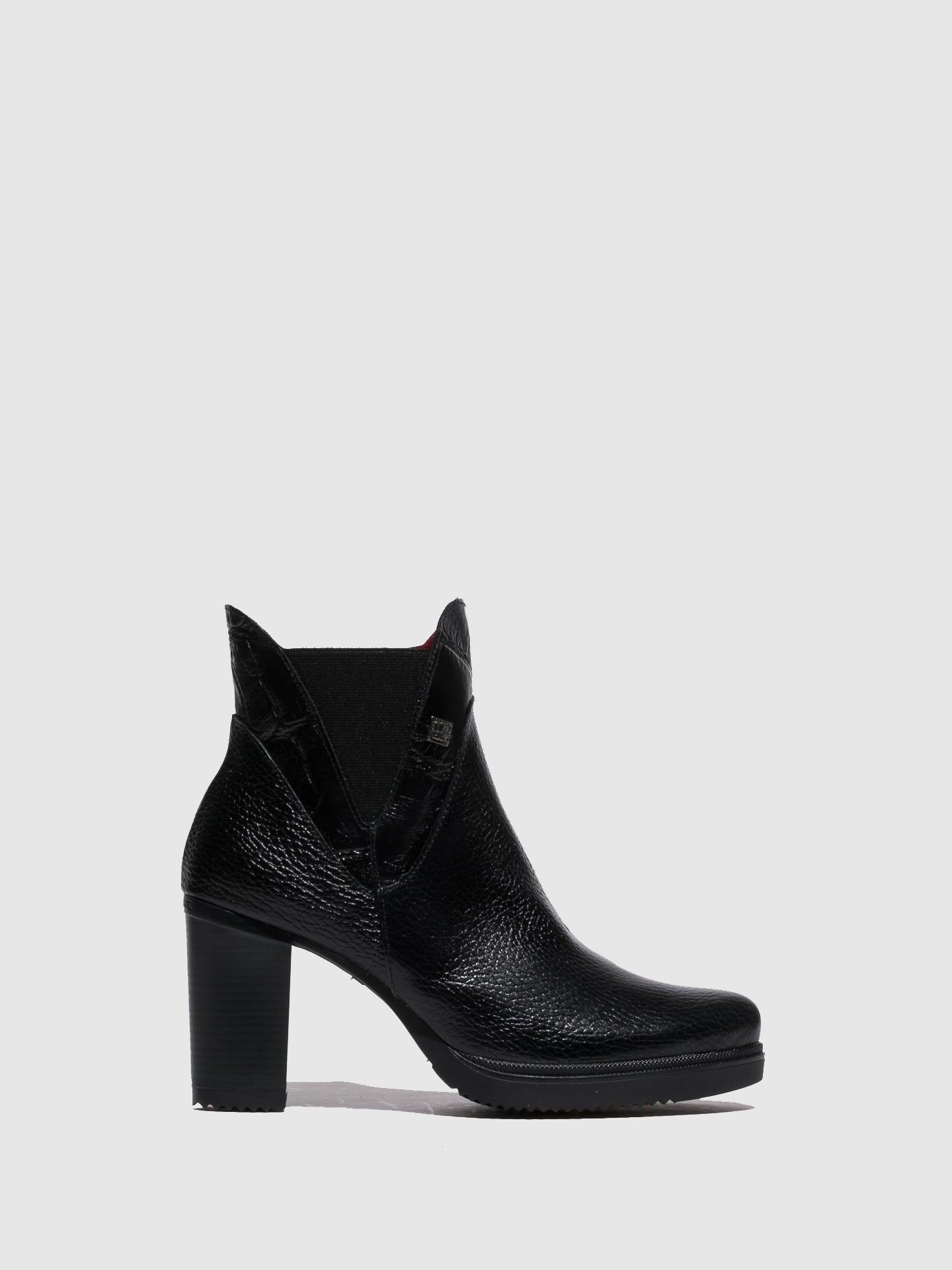 Jose Saenz Black Zip-up Ankle Boots